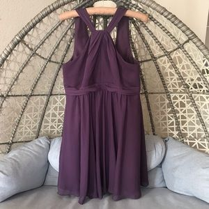 David Bridal Mini Wedding Guest Dress - Purple